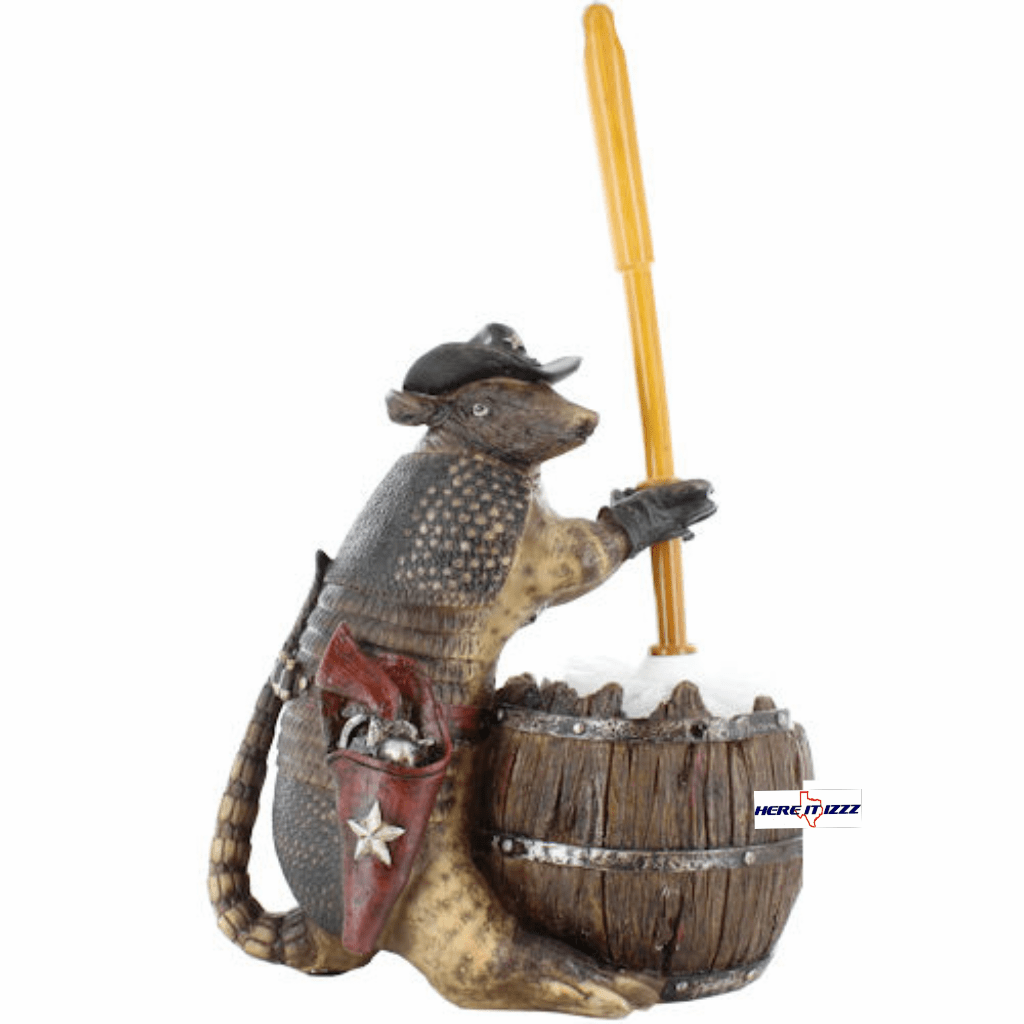Texas Armadillo Toilet Brush Holder