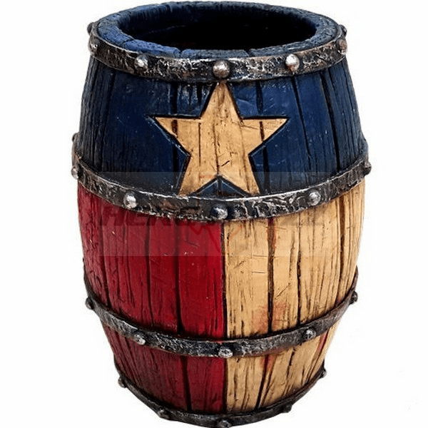 Texas Barrel Ballpoint Pen Pencil Holder