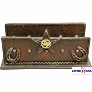Texas Concho Desk Letter Holder