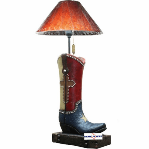 Texas Cowboy Boot Lamp
