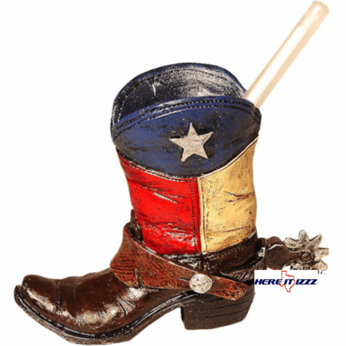 Texas Cowboy Boot Pen Or Pencil Holder