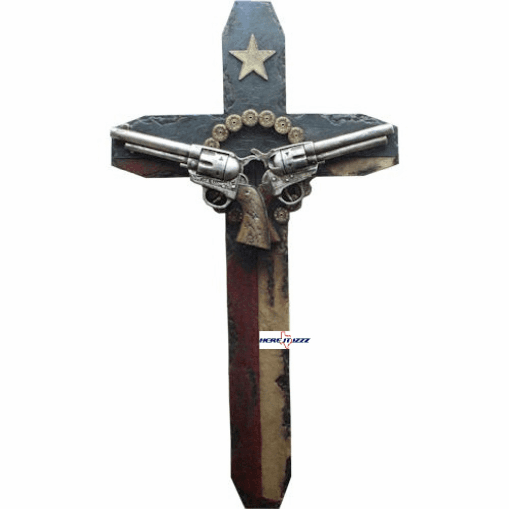 Texas Double Gun  Wall Cross