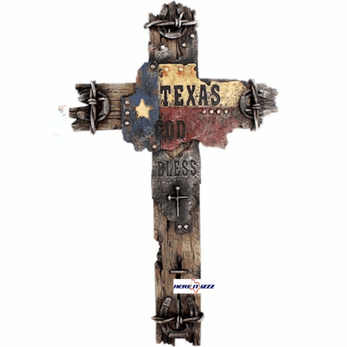 "Texas Flag 18""  Wall Cross"