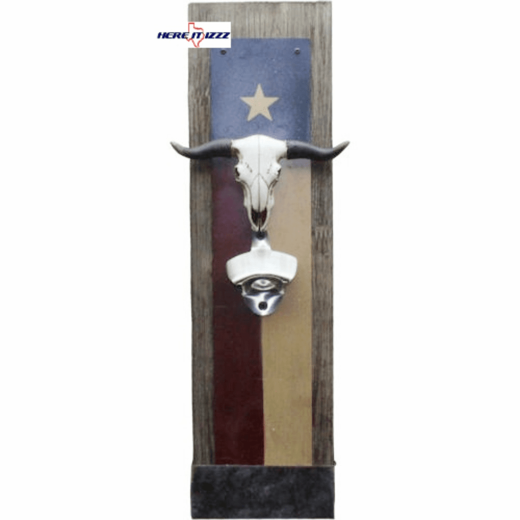 Texas Flag Bottle Opener with Cap Catcher