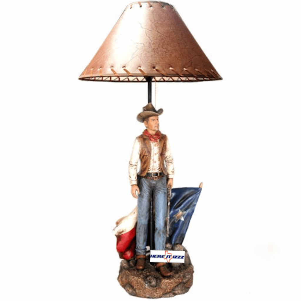 Texas   Flag  Cowboy Table Lamp