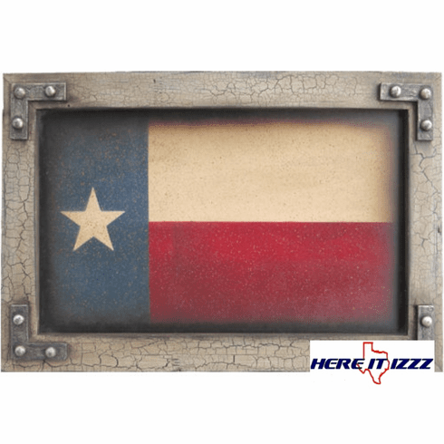 Texas Flag Framed Wall Print