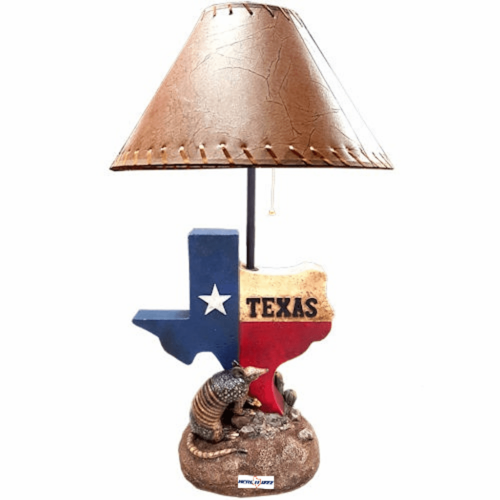 Texas Flag Map Armadillo Lamp