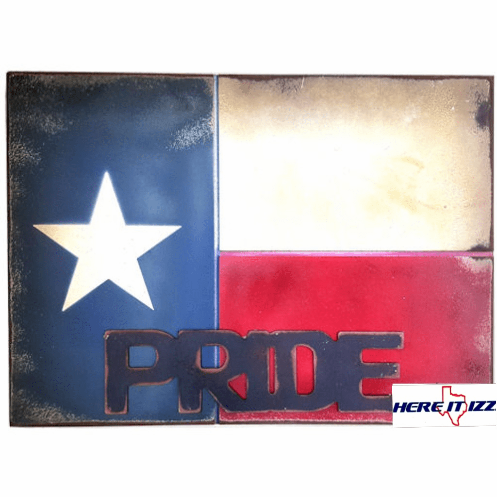 Texas Flag Pride Wooden Sign