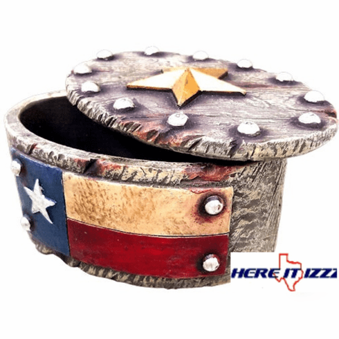 Texas Flag Trinket Box