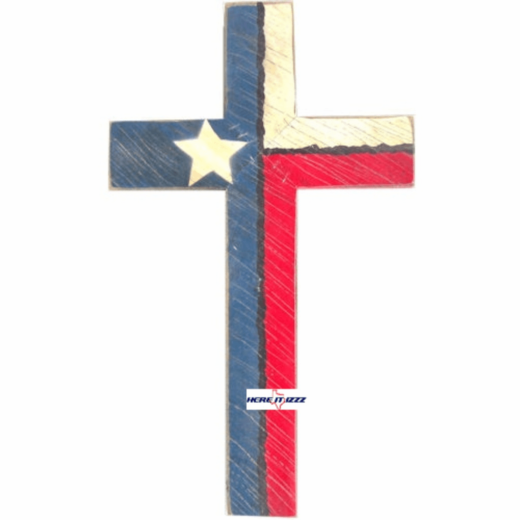 Texas Flag Wall Cross