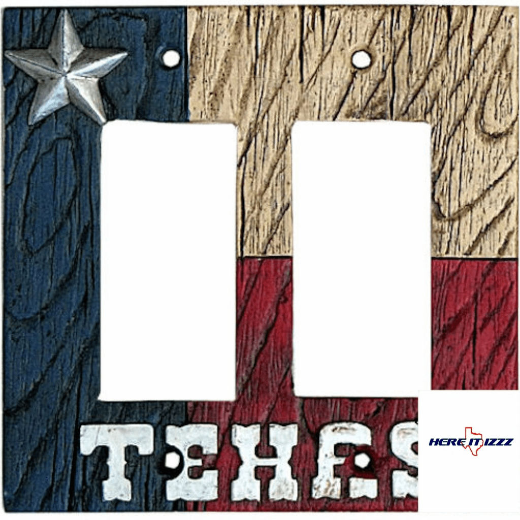 Texas Flag with Star Double Rocker