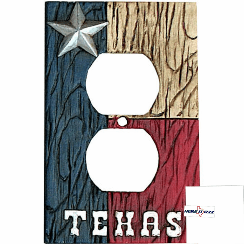 Texas Flag with Star Outlet Cover