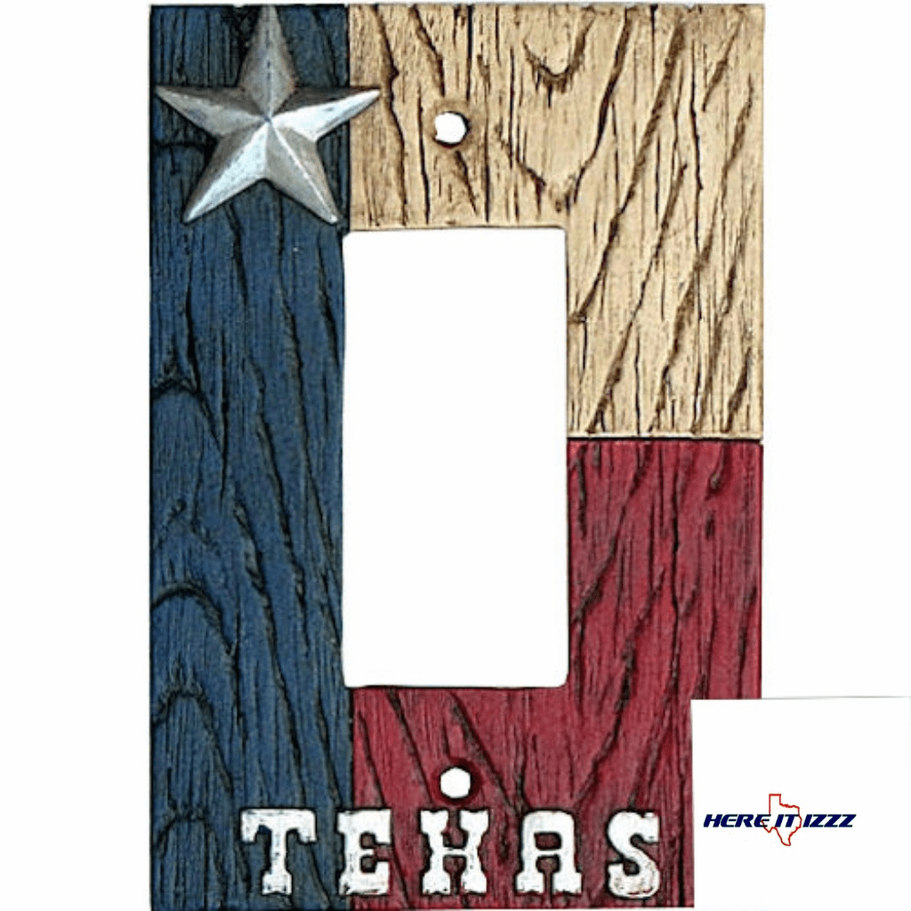 Texas Flag with Star  Single Rocker