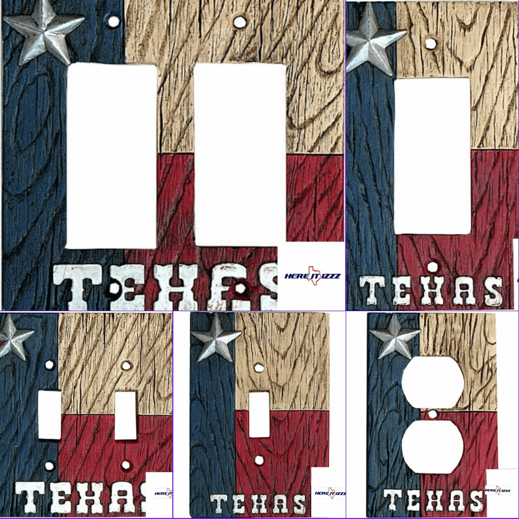 Texas Flag with Star  Switchplate Covers