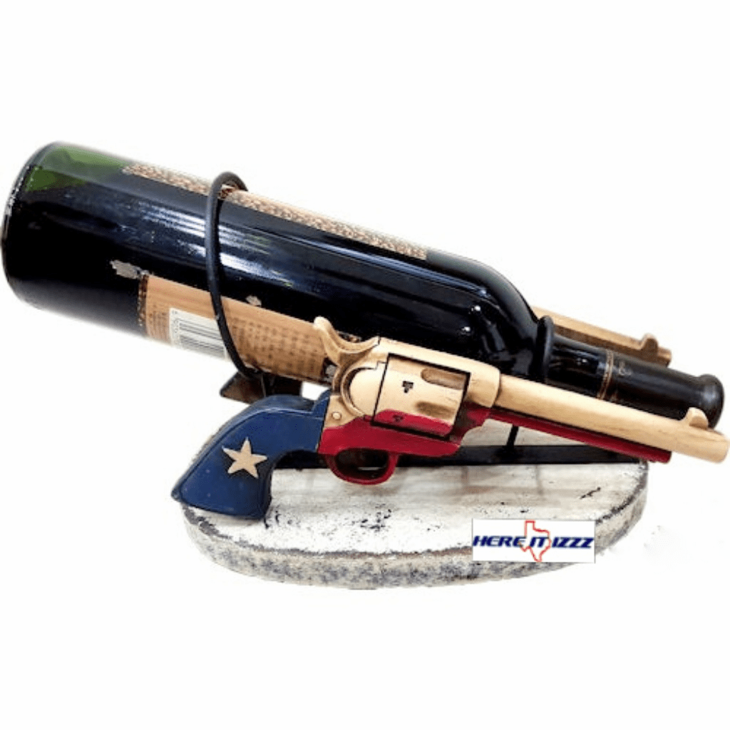 Texas Guns Wine Holder