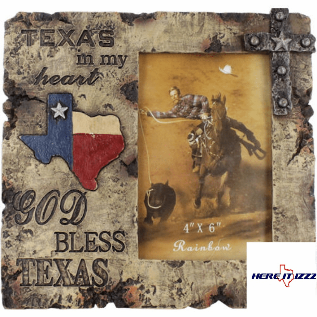 Texas In My Heart 4x6 Frame