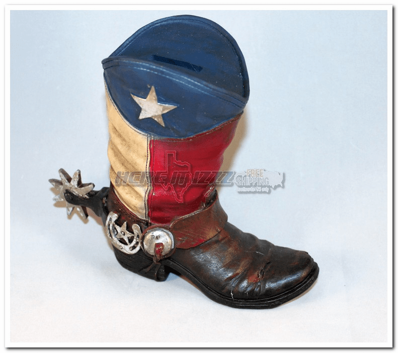 Texas Lone Star Cowboy Boot  Bank