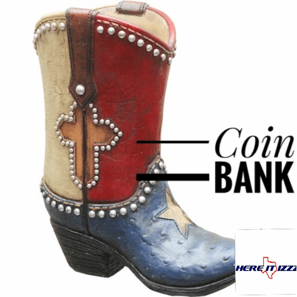 Texas Lone Star Cross Coin Bank