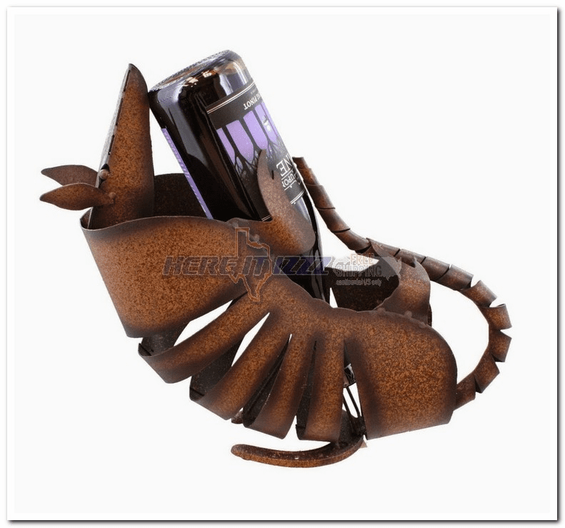 Texas Metal Armadillo  Wine Holder