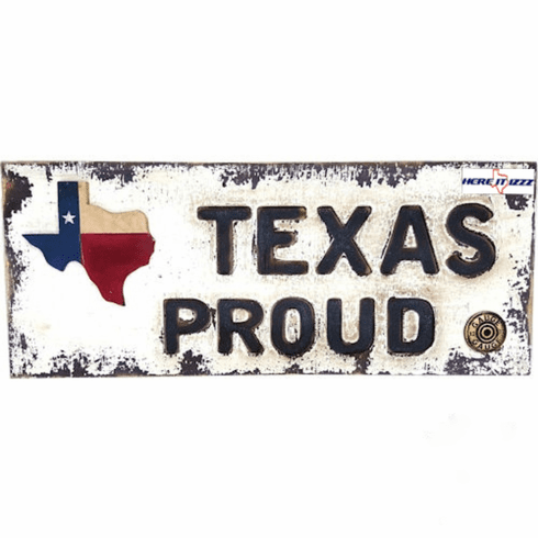 Texas Proud Wooden Wall Placard
