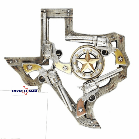Texas   Six Shooter Star Wall Artwork