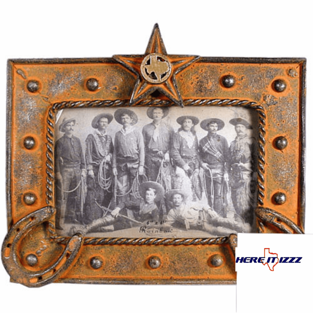 Texas Star and Horseshoes Picture Frame