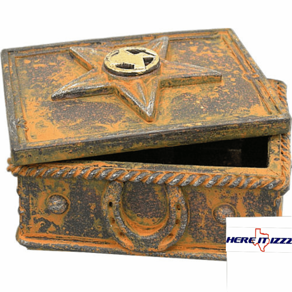 Texas Star Concho Jewelry Trinket Box