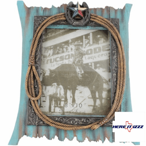 Texas Star Horseshoe 8x10 Frame