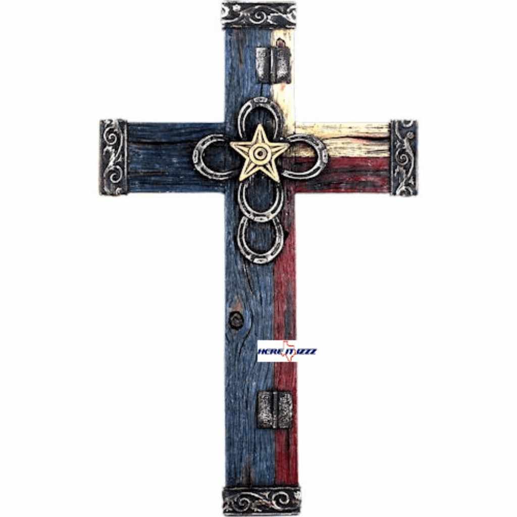 Texas Star Horseshoe Wall Cross