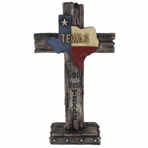 Texas State Outline Standing Cross