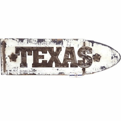 Texas Wood Plank Fence Sign