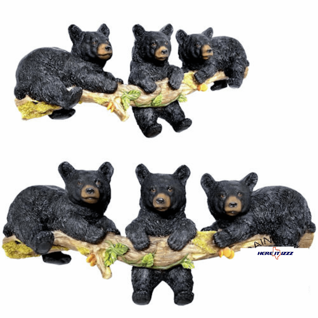 Three Black Bears Wall Hooks