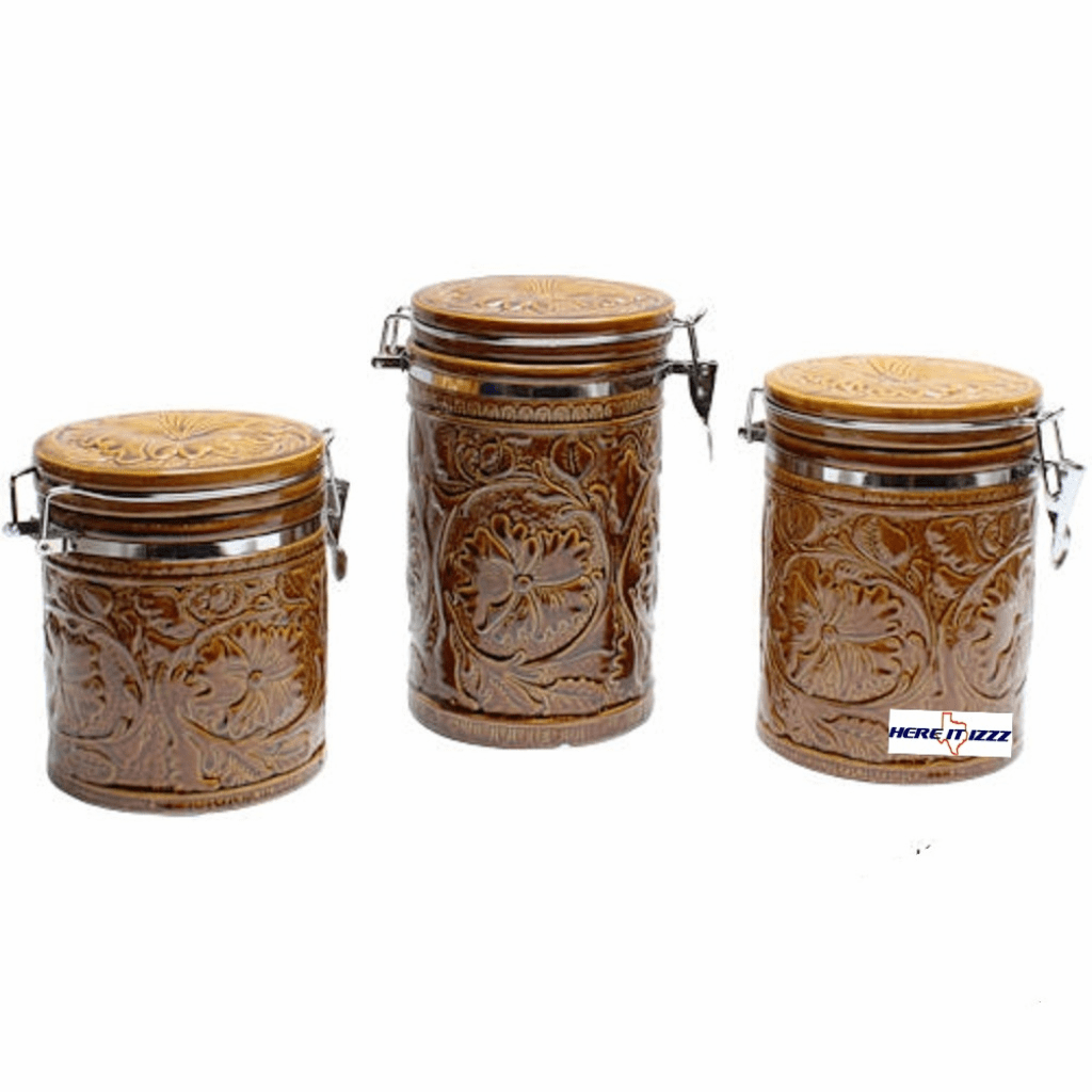 Tooled Ceramic Canister Set