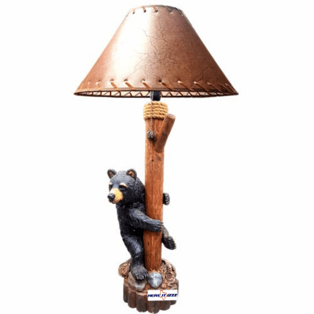 Tree Climbing Black Bear Lamp