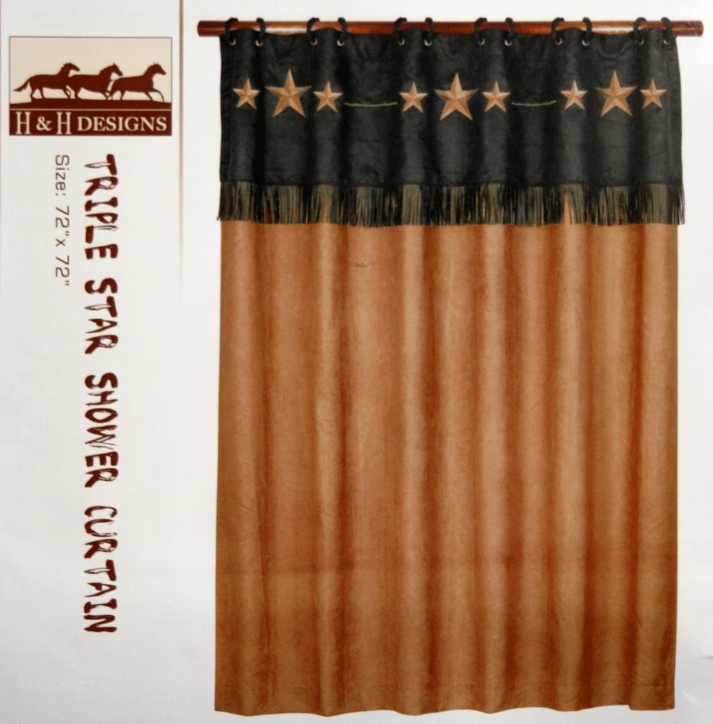 Triple Star Shower Curtain