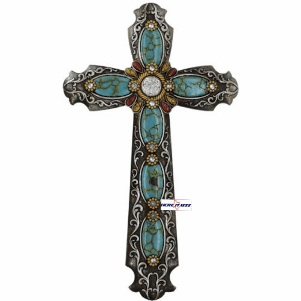 Turquoise​  Ice  Wall Cross
