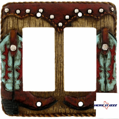 Turquoise  Boot Double Rocker  Cover
