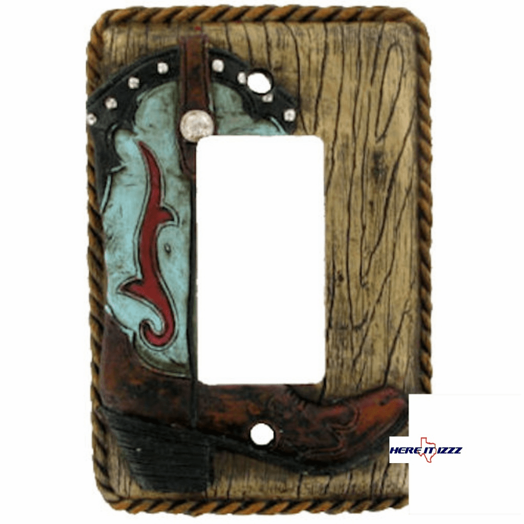Turquoise Boot Single Rocker Cover