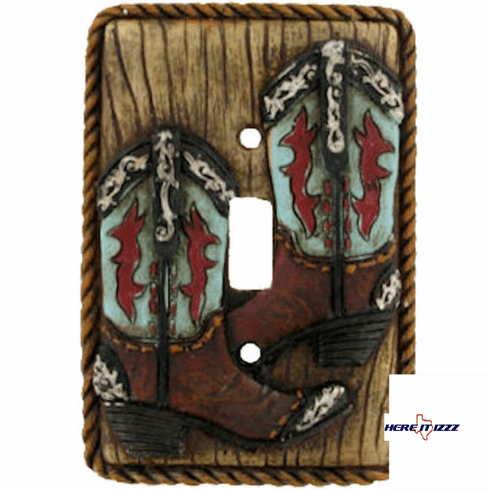 Turquoise  Boot Single Switch Plate