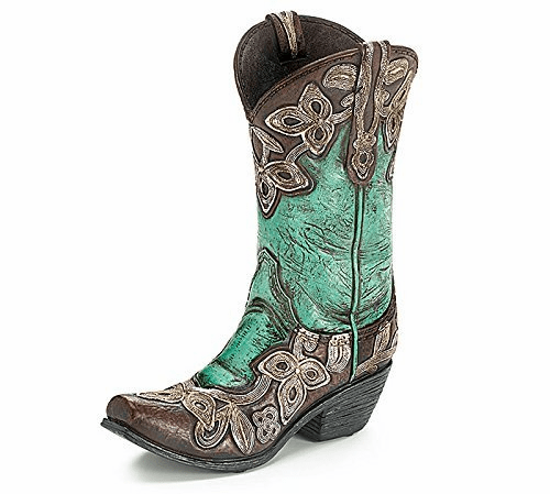 Turquoise Boot Vase