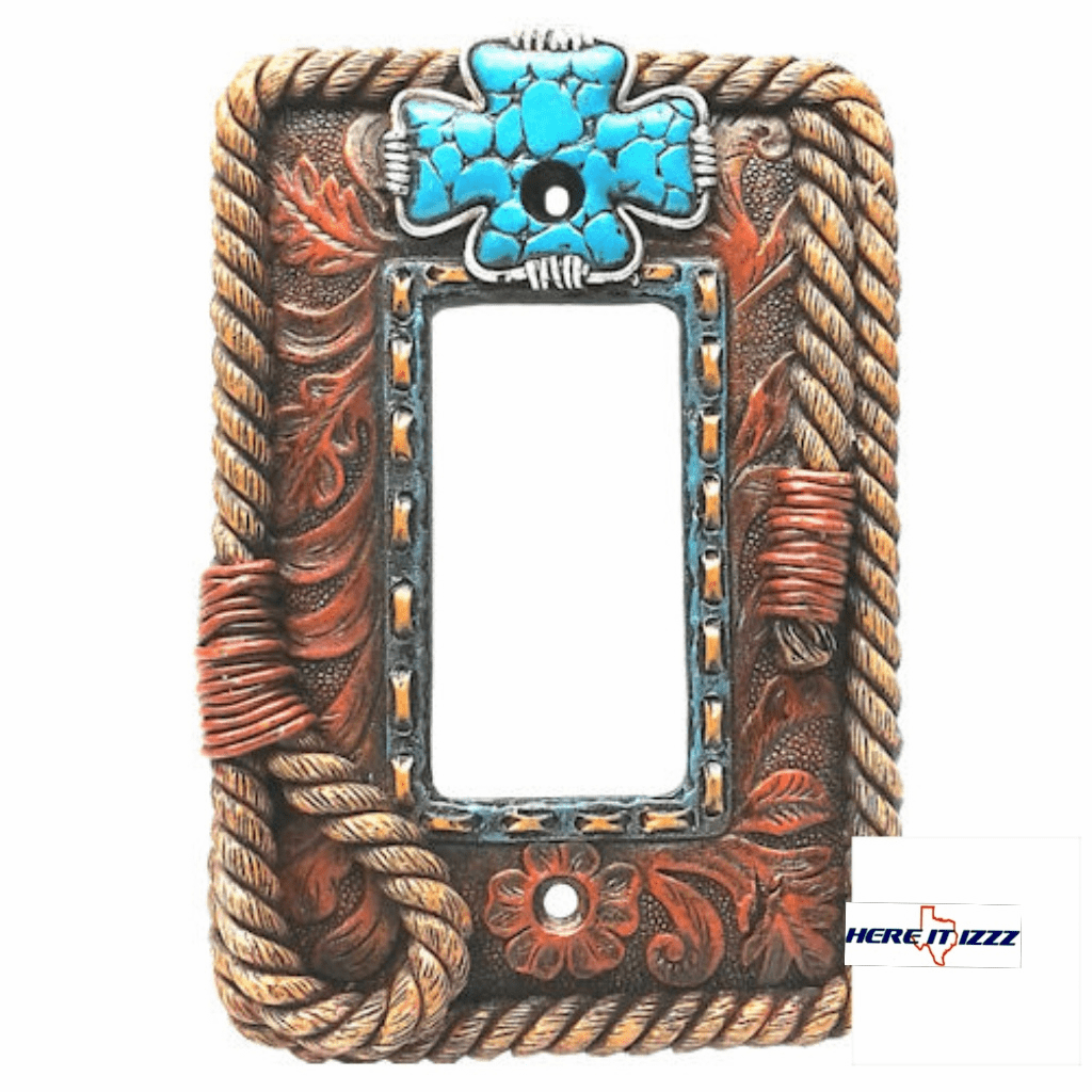 Turquoise Cross  Single  Rocker Cover
