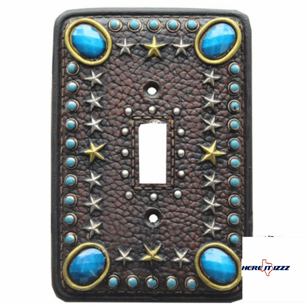 Turquoise Stone with Stars Single Switch Plate