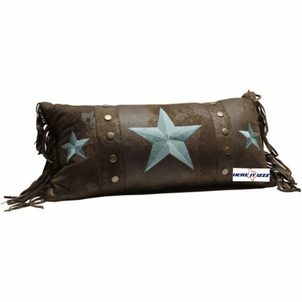 Turquoise Triple Star Chocolate Pillow