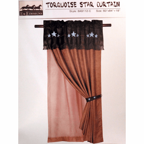 Turquoise Triple Star Curtain