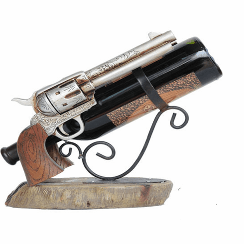 Twin Pistols Handguns Wine  Holder