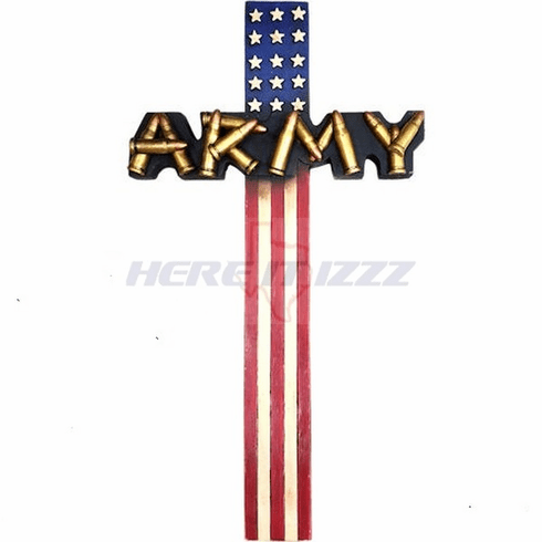 United States Army Bullet Flag Wall Cross