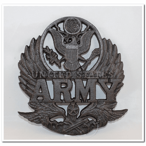 United States Army  Cast iron Trivet Plate