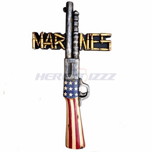 United States Marines Rifle Ammo Wall Cross