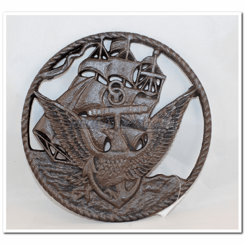 United States Navy  Cast iron Trivet Plate