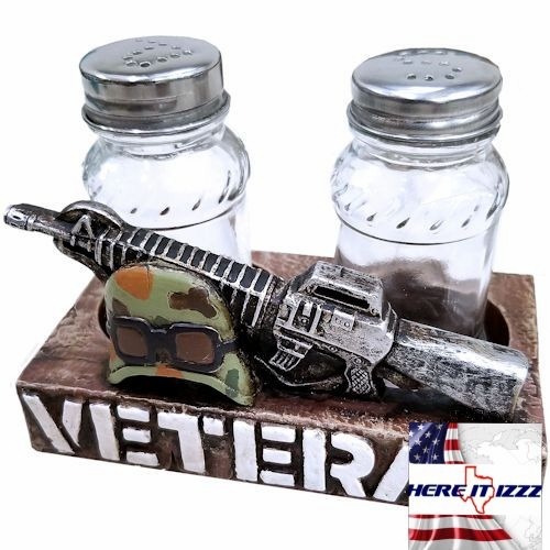 United States Veteran Salt and Pepper Shakers